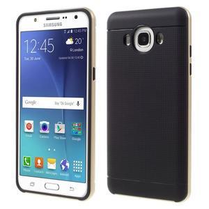 Hybridní obal 2v1 na mobil Samsung Galaxy J5 (2016) - zlatý - 1