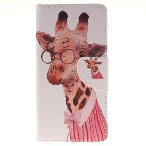 Pictures pouzdro na mobil Samsung Galaxy J5 (2016) - paní žirafa - 1