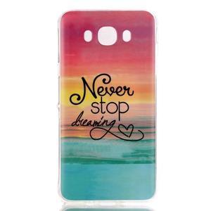 Softy gelový obal na mobil Samsung Galaxy J5 (2016) - nepřestávej snít - 1