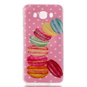 Softy gélový obal pre mobil Samsung Galaxy J5 (2016) - makrónky - 1