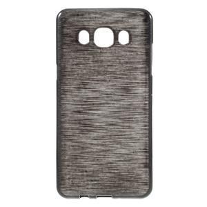 Brushed gelový obal na mobil Samsung Galaxy J5 (2016) - černý - 1
