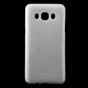 Brushed gélový obal pre mobil Samsung Galaxy J5 (2016) - biely - 1