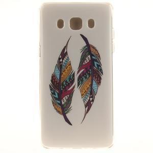 Gelový obal na mobil Samsung Galaxy J5 (2016) - barevná peříčka - 1