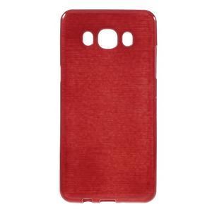 Brushed gélový obal pre mobil Samsung Galaxy J5 (2016) - červený - 1