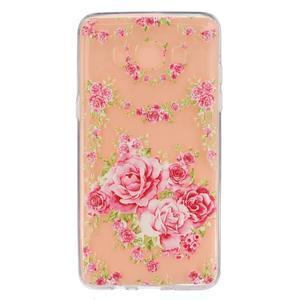 Transparentní gelový obal na Samsung Galaxy J5 (2016) - květiny - 1