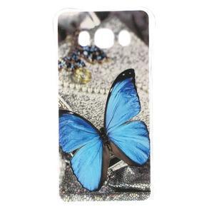 Antišok gelový obal na Samsung Galaxy J5 (2016) - modrý motýl - 1
