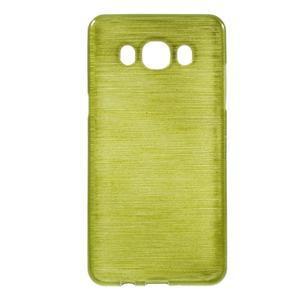 Brushed gélový obal pre mobil Samsung Galaxy J5 (2016) - zelený - 1