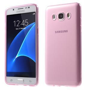 Ultratenký slim gelový obal na Samsung Galaxy J5 (2016) - růžový - 1