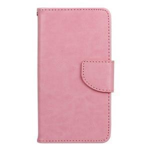 Wall PU kožené puzdro pre Samsung Galaxy J5 (2016) - ružové - 1