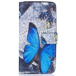 Knížkové pouzdro na mobil Samsung Galaxy J5 (2016) - modrý motýl - 1