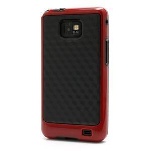 Cube odolný obal pre mobil Samsung Galaxy S2 - červený - 1