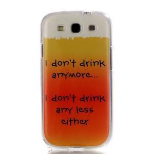 Gélový obal pre mobil Samsung Galaxy S3 - drink - 1