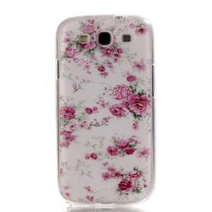 Gelový obal na mobil Samsung Galaxy S3 - květiny - 1