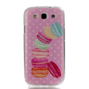 Gélový obal pre mobil Samsung Galaxy S3 - makrónky - 1