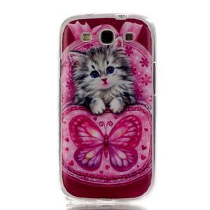 Gélový obal pre mobil Samsung Galaxy S3 - koťátko - 1