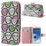 Funy puzdro pre mobil Samsung Galaxy S3 - lebky - 1/7