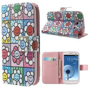 Funy pouzdro na mobil Samsung Galaxy S3 - květiny - 1