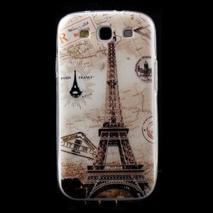 Ultratenký gelový obal na mobil Samsung Galaxy S3 - Eiffelova věž - 1