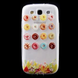Ultratenký gelový obal na mobil Samsung Galaxy S3 - donuts - 1
