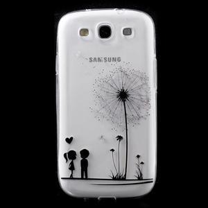 Ultratenký gelový obal na mobil Samsung Galaxy S3 - láska - 1