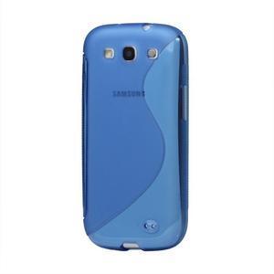 S-line gélový obal pre Samsung Galaxy S3 - modrý - 1