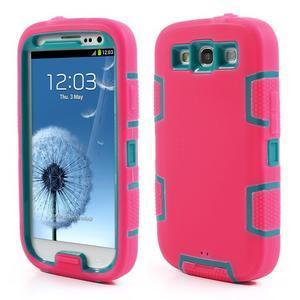 Odolné silikonové puzdro pre mobil Samsung Galaxy S3 - rose - 1