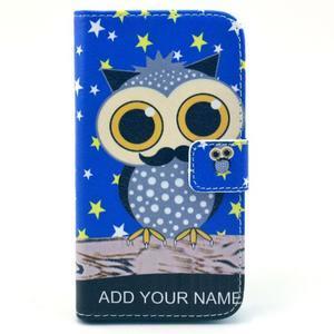 Pictu puzdro pre mobil Samsung Galaxy S3 - sova s vousem - 1