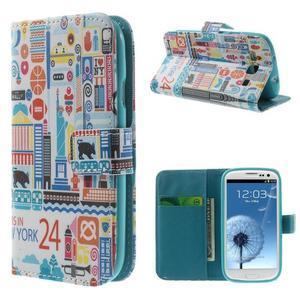 Knížečkové pouzdro na Samsung Galaxy S3 - New York - 1