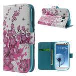 Knížečkové puzdro pre Samsung Galaxy S3 - kvitnúca vetvička - 1/7
