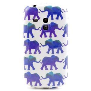 Gelový obal na mobil Samsung Galaxy S3 mini - sloníci - 1