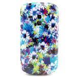 Gelový obal na mobil Samsung Galaxy S3 mini - barevné květiny - 1/3