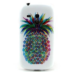 Gélový obal pre mobil Samsung Galaxy S3 mini - farebný ananas - 1