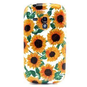 Gelový obal na mobil Samsung Galaxy S3 mini - slunečnice - 1