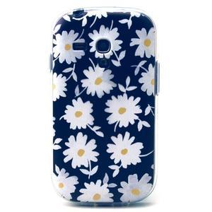 Gloss gelový kryt na Samsung Galaxy S3 mini - sedmikrásky (černé pozadí) - 1