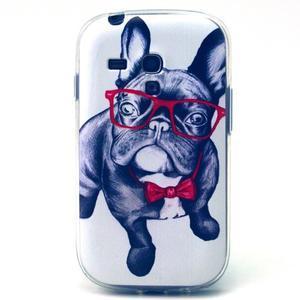 Gloss gélový kryt pre Samsung Galaxy S3 mini - buldog - 1
