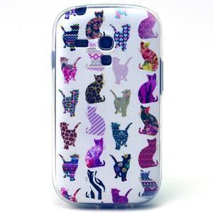Gloss gélový kryt pre Samsung Galaxy S3 mini - mačičky - 1