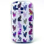 Gloss gélový kryt pre Samsung Galaxy S3 mini - mačičky - 1/4