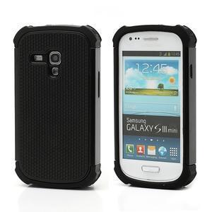 Outdoor odolný obal pre mobil Samsung Galaxy S3 mini - čierný - 1