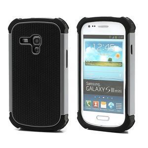 Outdoor odolný obal na mobil Samsung Galaxy S3 mini - šedý - 1