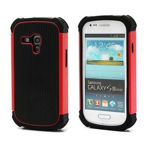 Outdoor odolný obal pre mobil Samsung Galaxy S3 mini - červený - 1