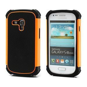 Outdoor odolný obal pre mobil Samsung Galaxy S3 mini - oranžový - 1