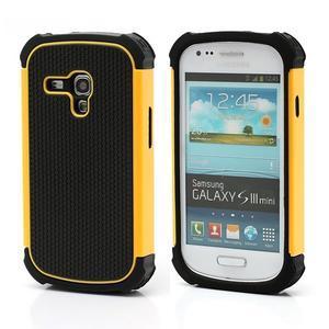 Outdoor odolný obal pre mobil Samsung Galaxy S3 mini - žltý - 1