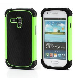 Outdoor odolný obal pre mobil Samsung Galaxy S3 mini - zelený - 1