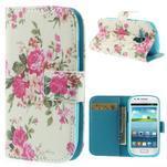 Knížkové pouzdro na mobil Samsung Galaxy S3 mini - květinová koláž - 1/7