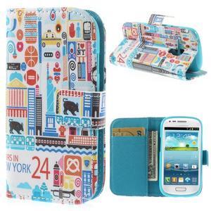 Knížkové puzdro pre mobil Samsung Galaxy S3 mini - New York - 1
