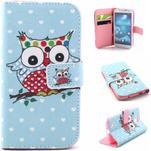 Standy peňaženkové puzdro pre Samsung Galaxy S4 - sova - 1/7