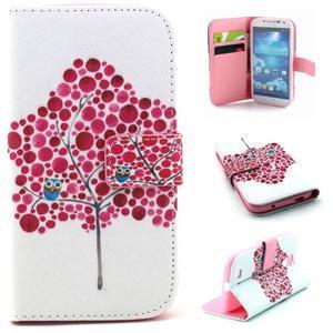 Standy peňaženkové puzdro pre Samsung Galaxy S4 - soví strom - 1