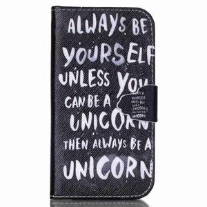 Emotive knížkové puzdro pre Samsung Galaxy S4 - unicorn - 1