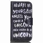 Emotive knížkové puzdro pre Samsung Galaxy S4 - unicorn - 1/6