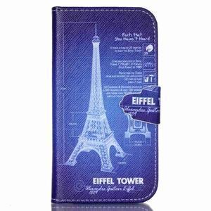 Emotive knížkové puzdro pre Samsung Galaxy S4 - Eiffelova veža - 1